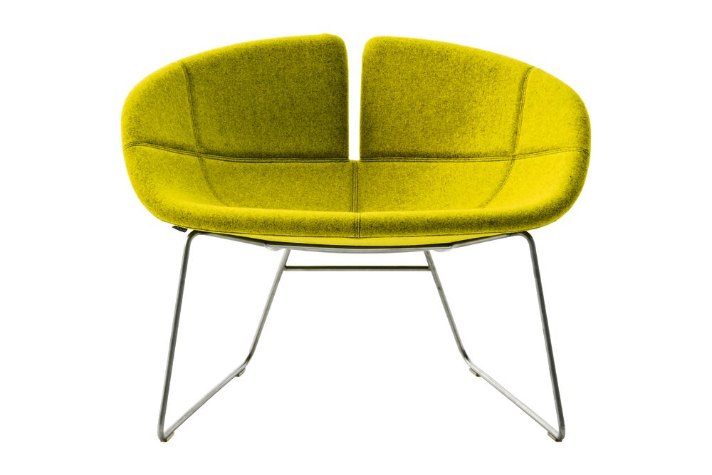 A4301 - Stamskin Top 4340-07478, White,Moroso,Armchairs,chair,furniture,line,yellow