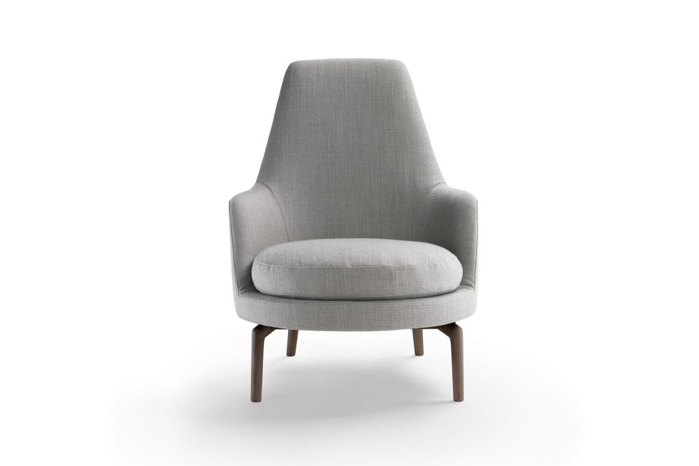 leda armchair wood base sable 1640 wood finishes ashwood stained brown flexform antonio citterio clippings