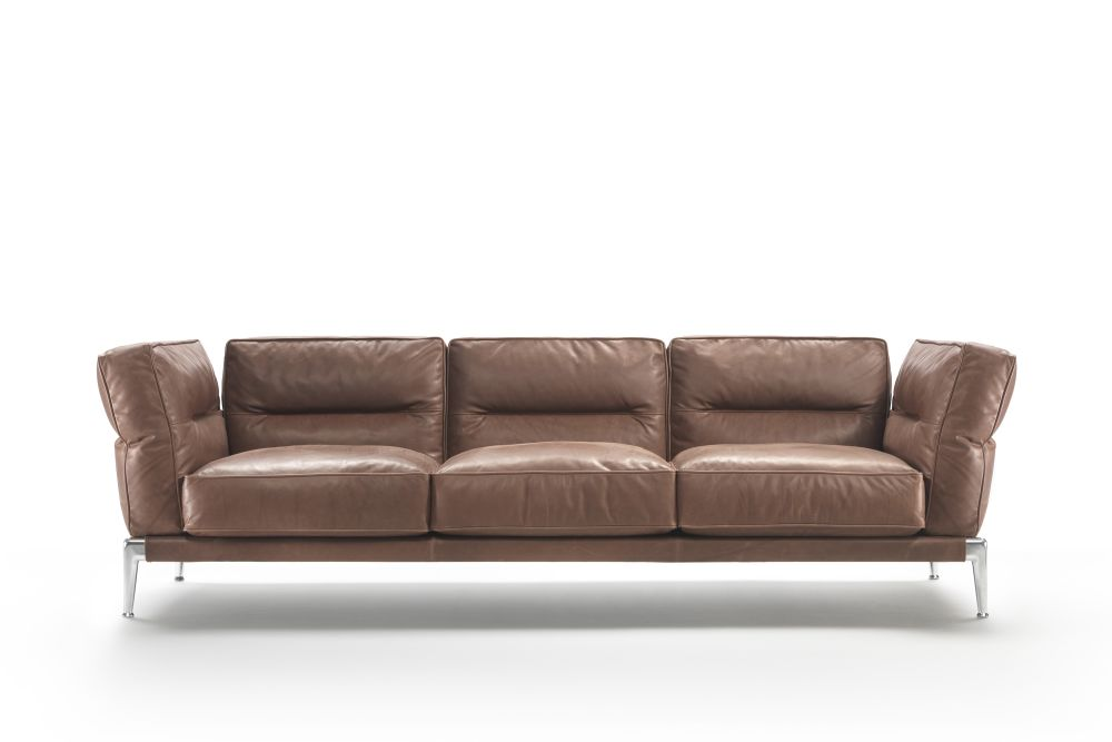 Sable 1640, Black Chrome,Flexform,Sofas,beige,brown,couch,furniture,leather,living room,loveseat,room,sofa bed