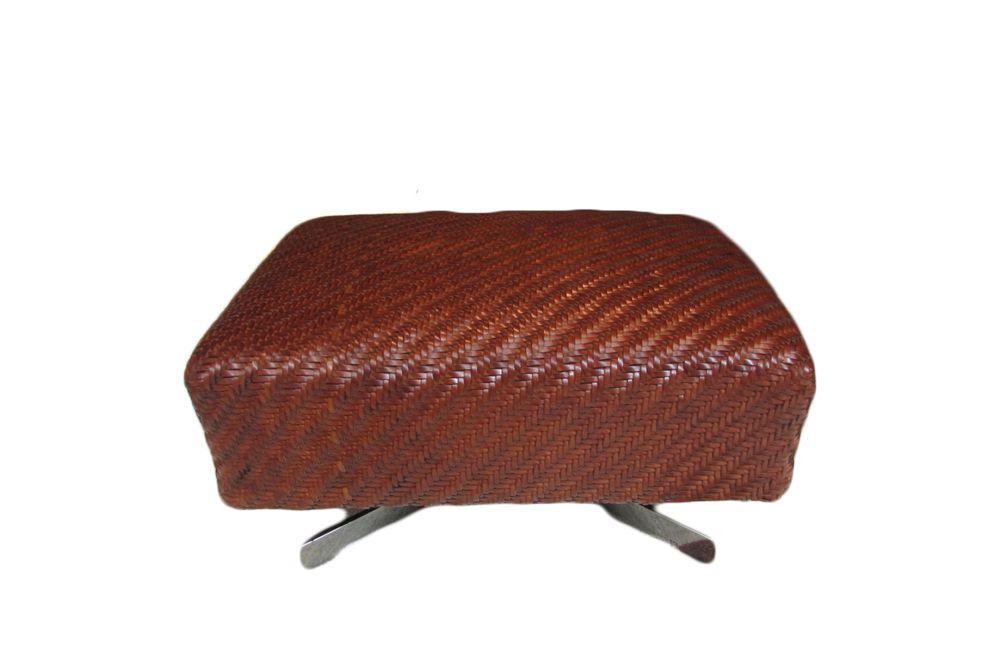 Hide Leather - Suede Black 5005, Black Chrome,Flexform,Footstools,brown,furniture,maroon,ottoman,stool,table