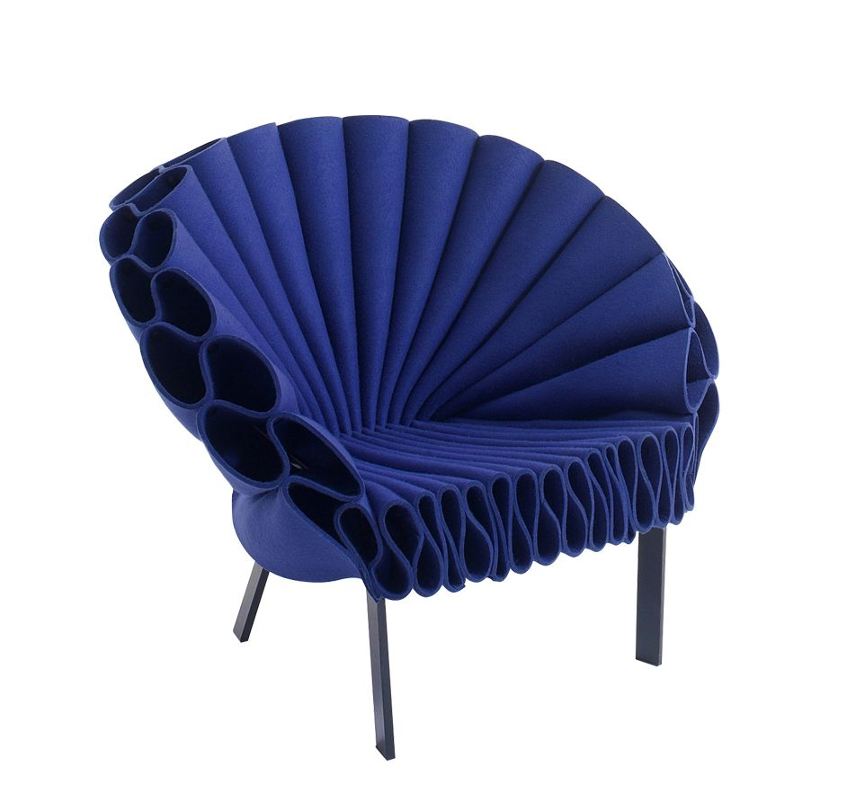 Feltro Peacock Felt 1713,Cappellini,Armchairs,blue,chair,cobalt blue,electric blue,furniture,purple,violet