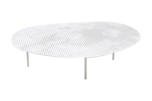 Traffic White, Small,Moroso,Coffee & Side Tables,coffee table,furniture,outdoor table,oval,table