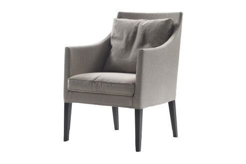 Sable 1640, Wood Finishes Noce Canaletto,Flexform,Armchairs,beige,chair,club chair,furniture