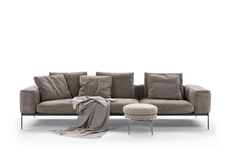 Lifesteel 3 Seater Sofa by Flexform