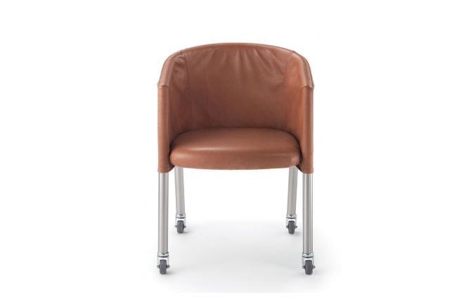 Mixer Short Cover Armchair with Castors by Flexform