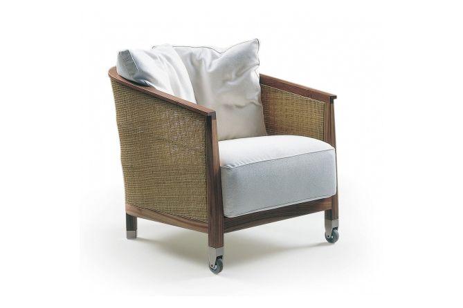 Mozart Armchair with Front Castors by Flexform