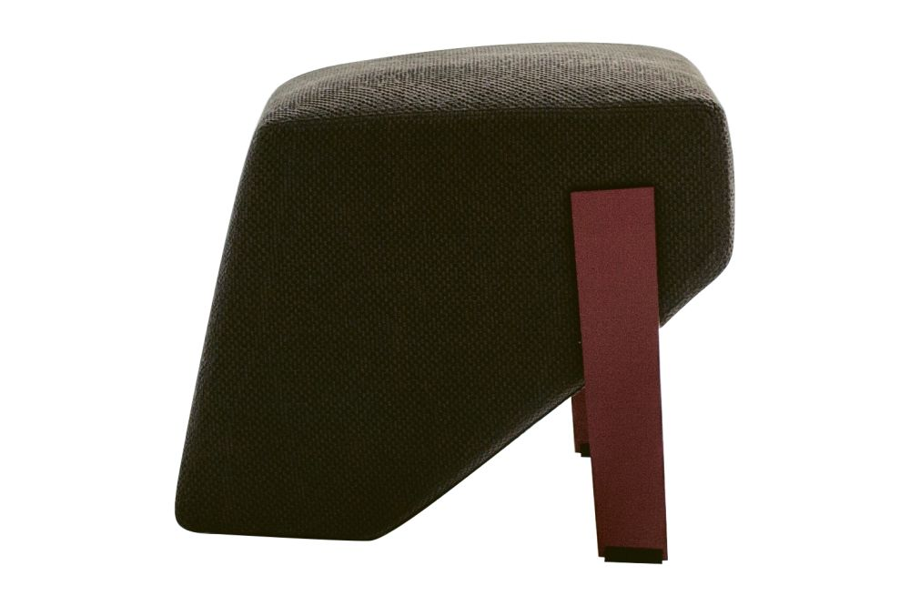 B0211 - Leather Oil cirè, Tele Grey,Moroso,Footstools,furniture,maroon,stool