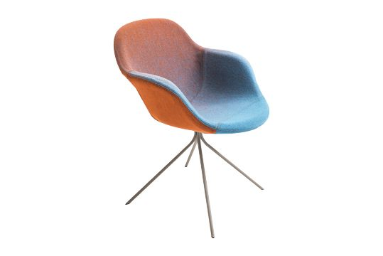A0867 - Divina 3 623 red, Stone Grey,Moroso,Armchairs,chair,furniture,orange,turquoise