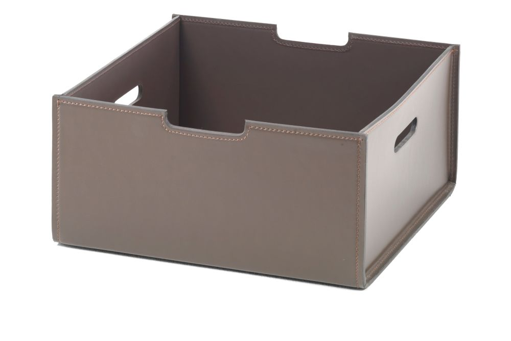 39, Hide Leather - Suede Black 5005,Flexform,Baskets,box,brown,shipping box