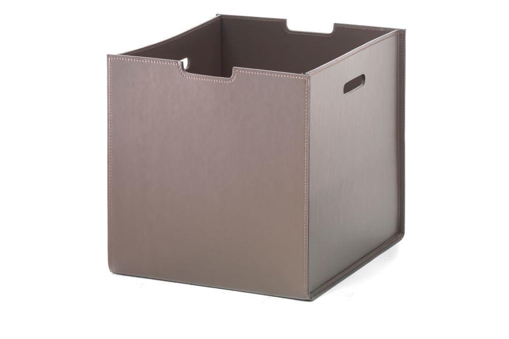 Box Leather Basket by Flexform