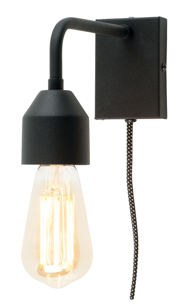 Madrid wall lamp black,it's about RoMi,Wall Lights,lamp,light,light fixture,lighting,sconce