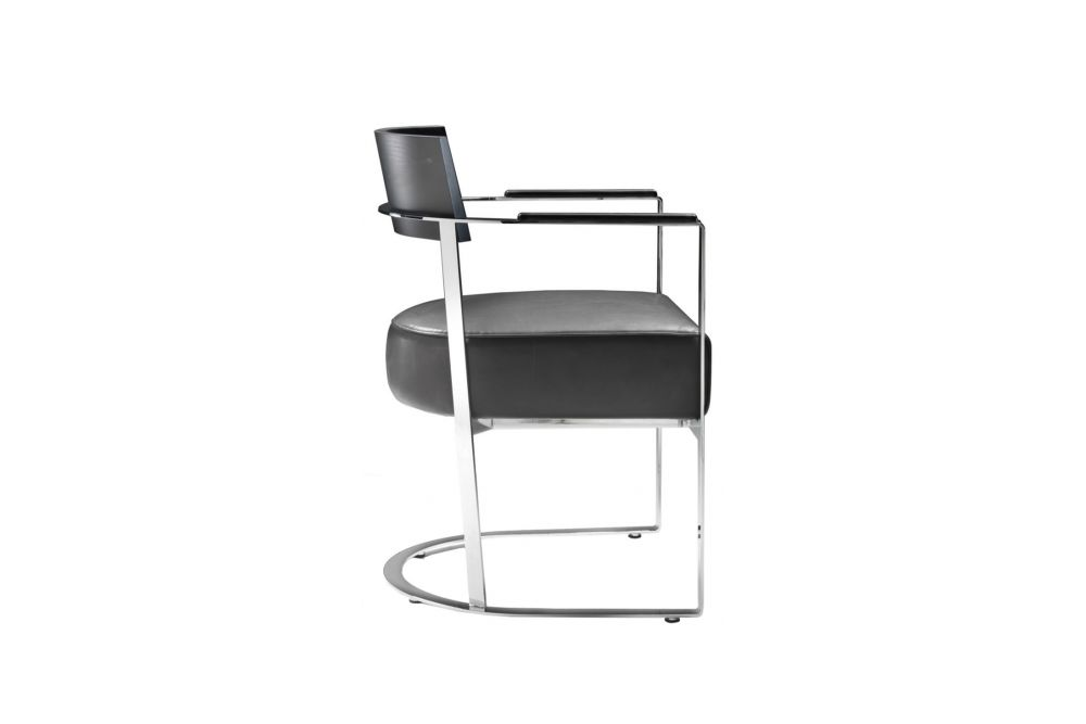 Sable 1640, Black Chrome, Wood Finishes Noce Canaletto,Flexform,Armchairs,chair,furniture