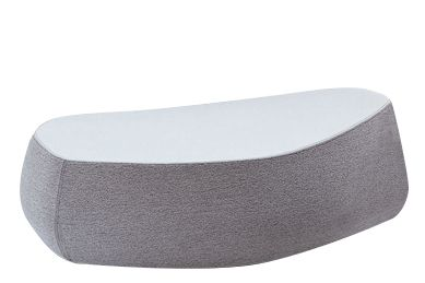 44 x 50 x 33, A4301 - Stamskin Top 4340-07478, White,Moroso,Footstools,table