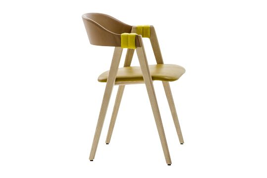 Ash Natural, A0867 - Divina 3 623 red,Moroso,Seating,chair,furniture,yellow