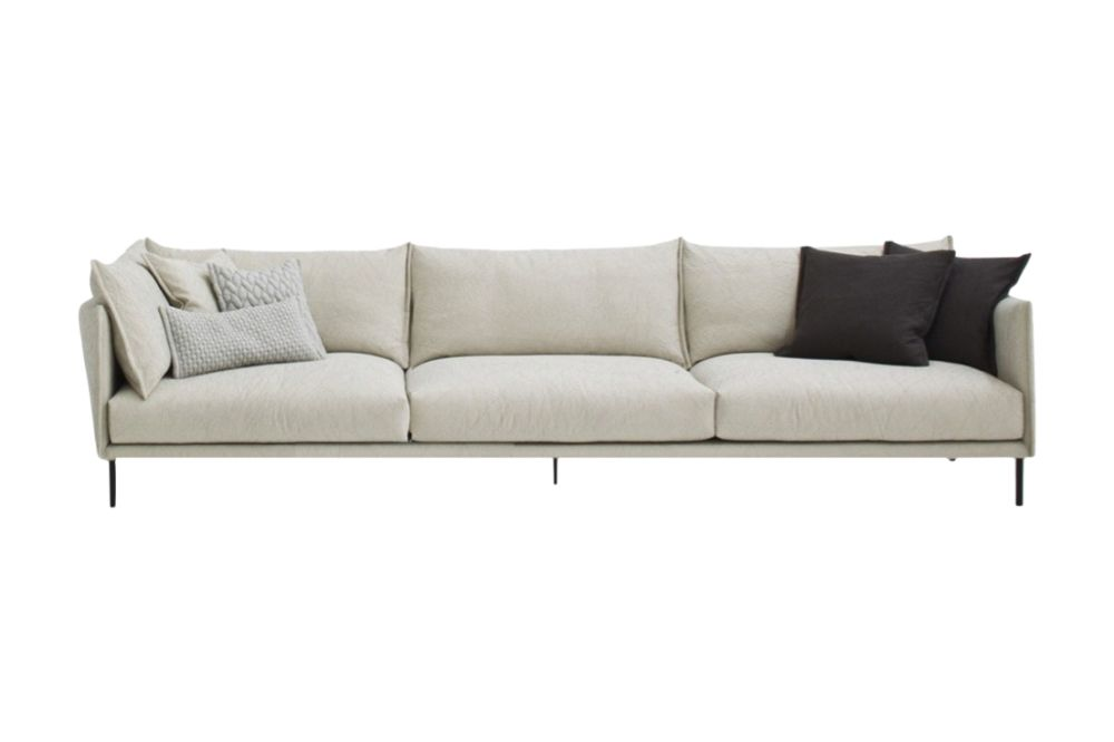 300 x 105, A7320 - Units 1 Merlino beige, Steel Chrome,Moroso,Sofas,beige,comfort,couch,furniture,leather,room,sofa bed,studio couch