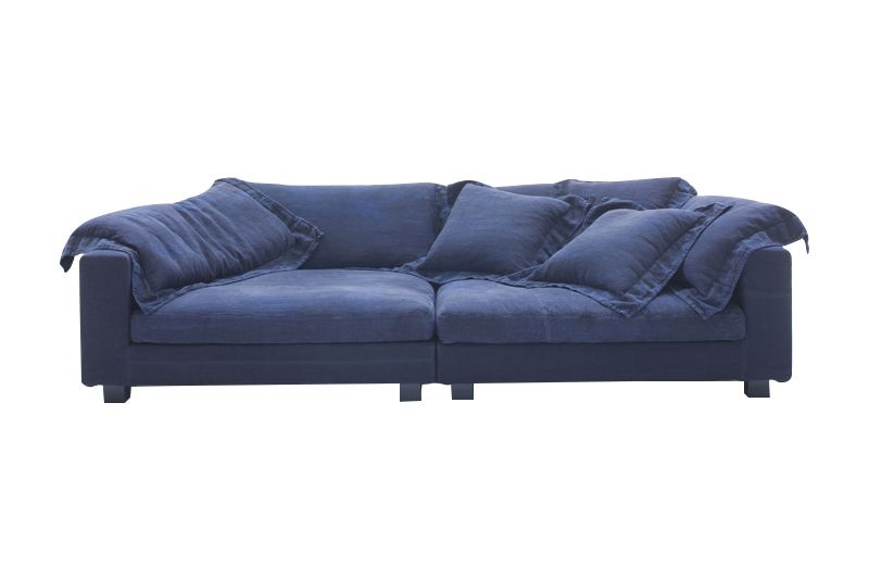 B0225 - Leather Saffiano yellow, Natural Ash, 330, 140,Diesel Living with Moroso,Sofas,blue,couch,furniture,loveseat,sofa bed,studio couch