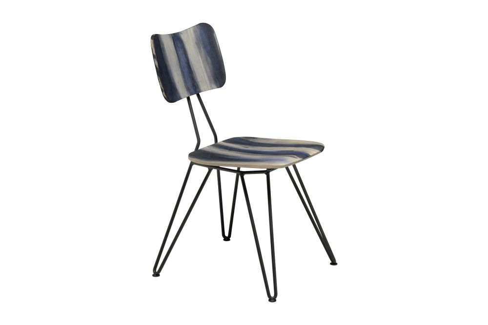 Indigo Blue, Raw Black,Diesel Living with Moroso,Dining Chairs,chair,furniture,table