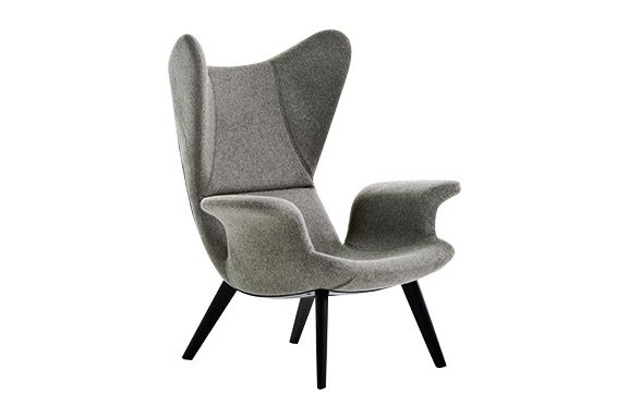 Charcoal, A4260 - Linen Deep Black - S,Diesel Living with Moroso,Armchairs,chair,furniture