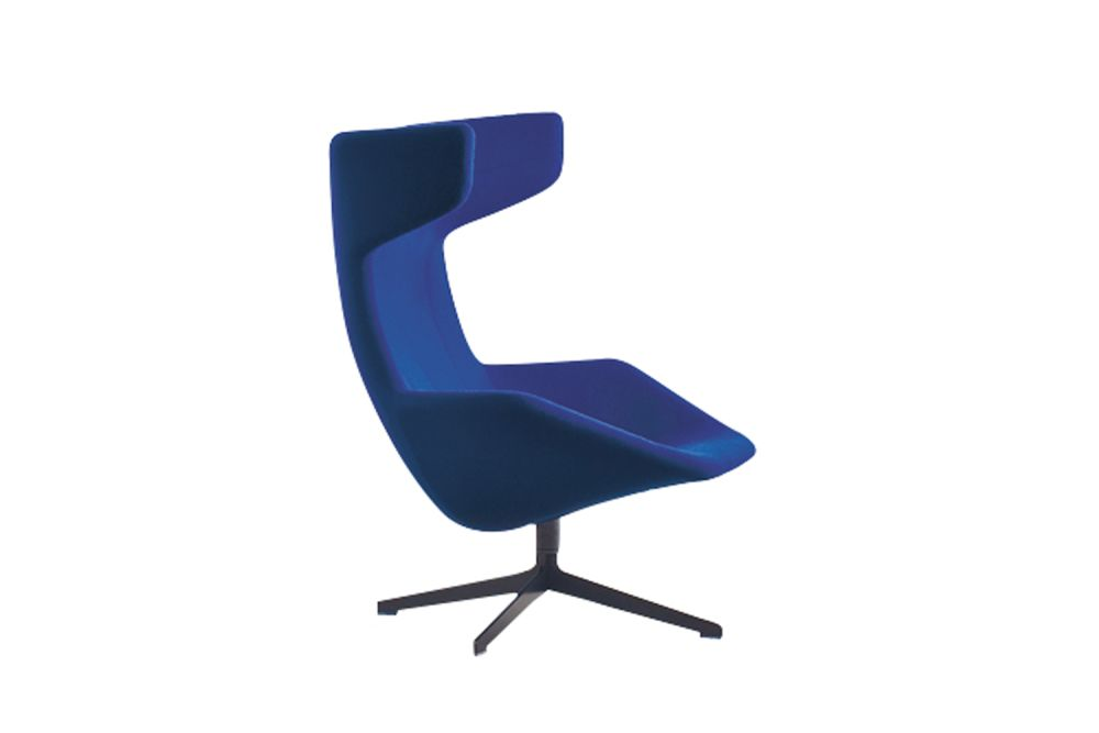 Rifle brown, A4301 - Stamskin Top 4340-07478, Stitching Red,Moroso,Armchairs,chair,cobalt blue,electric blue,furniture,line,office chair
