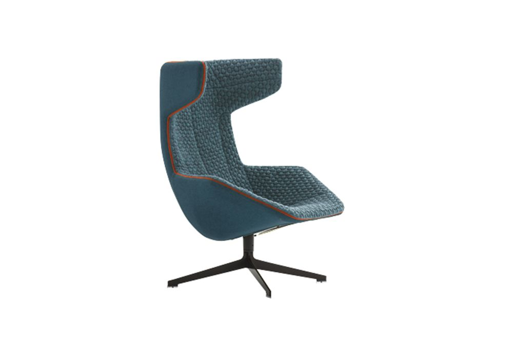 Take a Line for a Walk Armchair with Fabric Quilt by Moroso