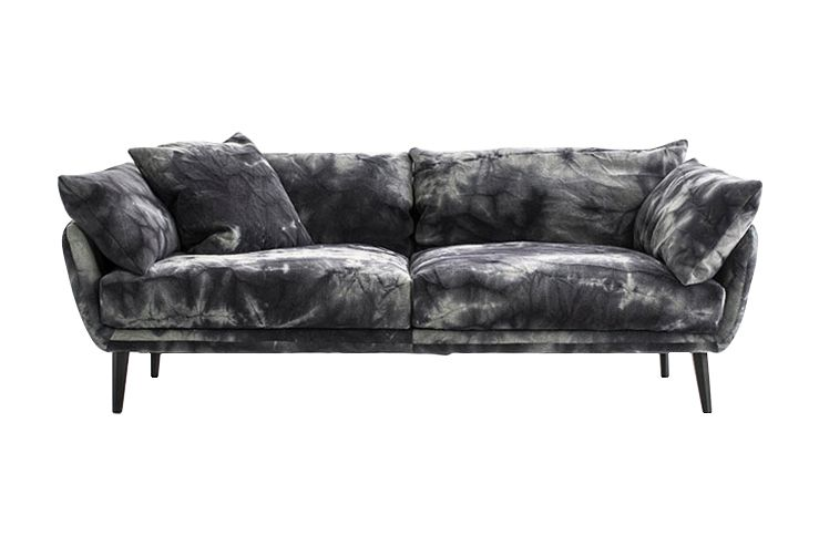 210, Charcoal, A7696 - Velvet Graffiti 15560 black,Diesel Living with Moroso,Sofas,black,couch,furniture,leather,loveseat,room,sofa bed,studio couch