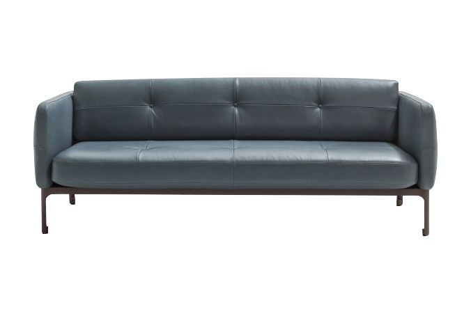 A8411 - Spring palette 6 133 camel - S, White Chalk, 160 x 91 x 76,Moroso,Sofas,couch,furniture,leather,sofa bed,studio couch