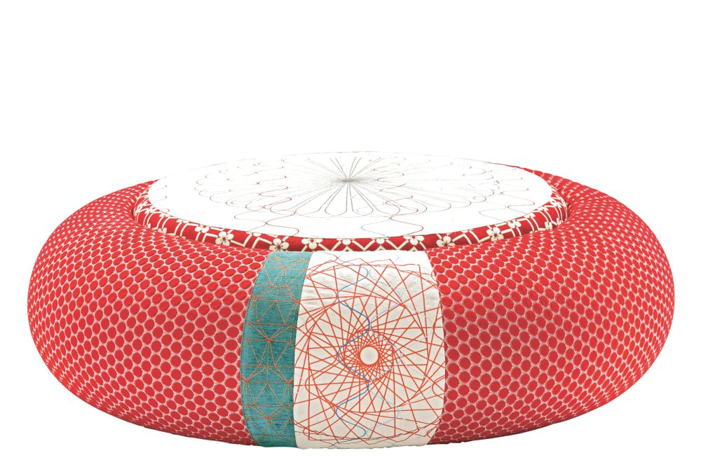 94, A4200 - Geo 01 CS Diamond/Flower Red, Fabric Pattern Donut A, A4211 - Geo CS Pattern Green/Red, A4248,Moroso,Footstools,furniture,orange,turquoise