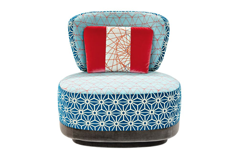 A4200 - Geo 01 CS Diamond/Flower Red, Fabric Pattern 2A, A4211 - Geo CS Pattern Green/Red, A4248, A4248,Moroso,Armchairs,chair,furniture,turquoise