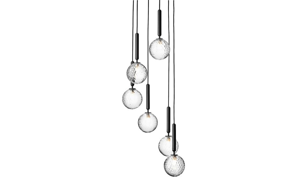 Optic Clear,Nuura,Chandeliers,chime,pendulum