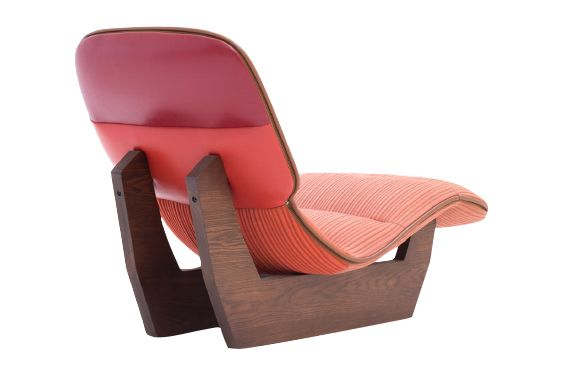036-L108, Oak Natural,Moroso,Lounge Chairs,chair,furniture,orange,pink