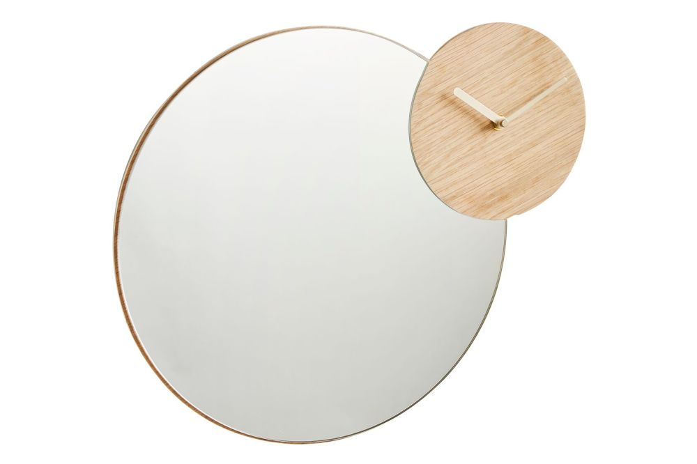 WOUD,Mirrors,beige,circle,wood