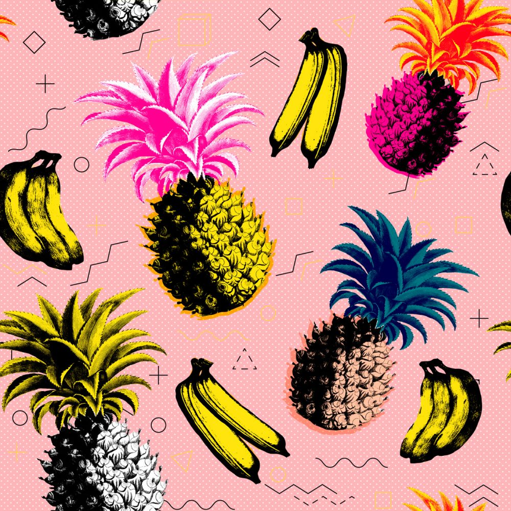 Pink,Mind The Gap,Wallpapers,ananas,design,fruit,organism,pattern,pineapple,plant,yellow