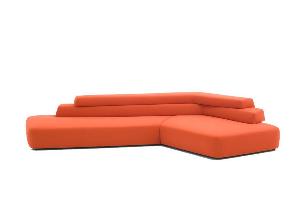 B0218 - Leather Blush cirè, Right,Moroso,Sofas,chaise longue,couch,furniture,orange,sofa bed