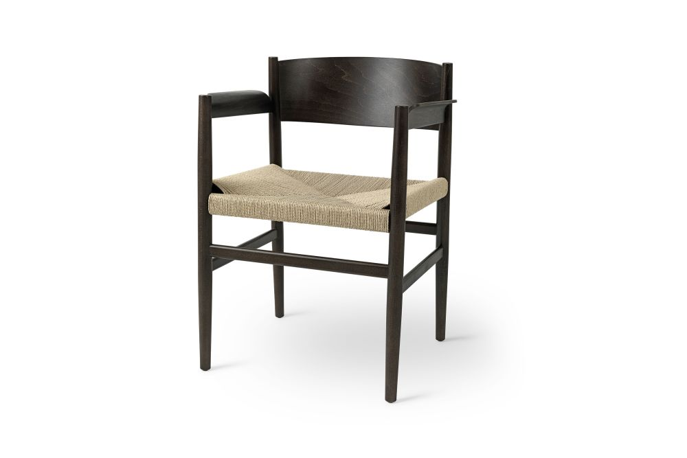 Tom Stepp Nestor Armchair, Paper Cord Seat by Mater