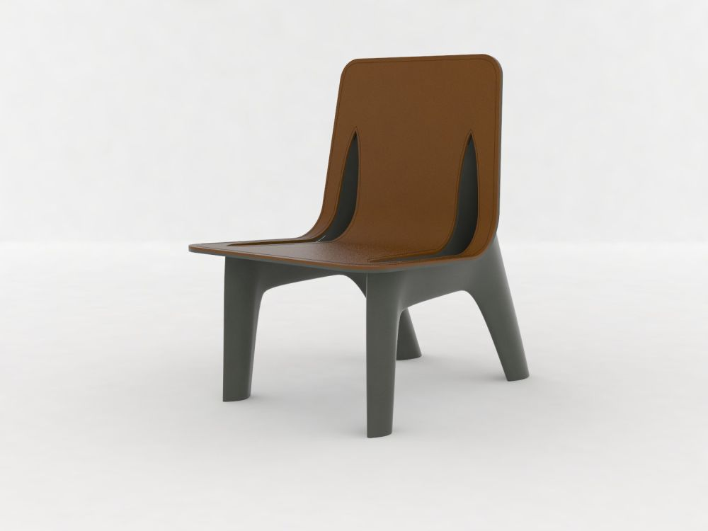 RAL 7021, Steel,Zieta,Dining Chairs,chair,furniture,plywood,wood