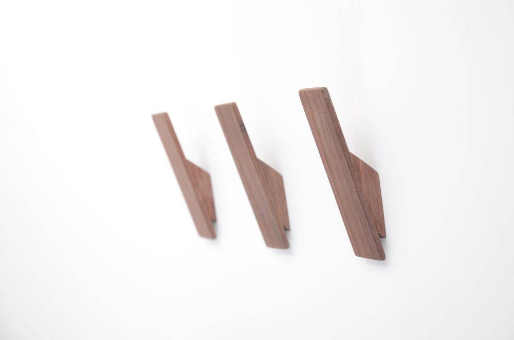 Walnut Wall Coat Hook by Utology