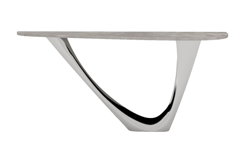 Polished Steel Base, Concrete Top,Zieta,Console Tables,coffee table,furniture,table