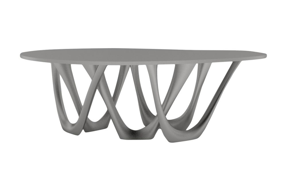 G-Table with Inox Top and Base by Zieta