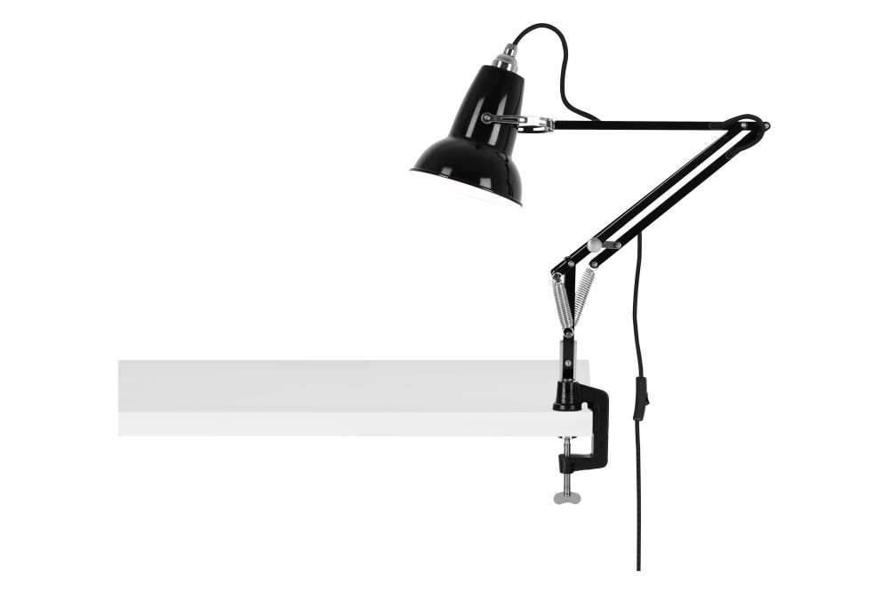Jet Black,Anglepoise,Desk Lamps,arm,microphone,microphone stand