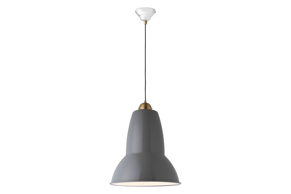 Original 1227 Giant Brass Pendant Light by Anglepoise