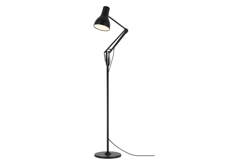 Jet Black,Anglepoise,Floor Lamps,lamp,light fixture,lighting,microphone,microphone stand,street light