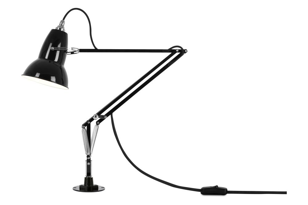 Bright Chrome,Anglepoise,Desk Lamps,arm,audio equipment,microphone,microphone stand