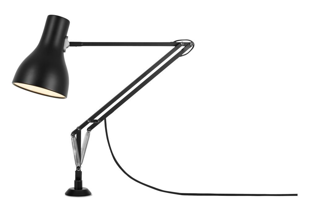 Jet Black,Anglepoise,Desk Lamps,lamp,light fixture