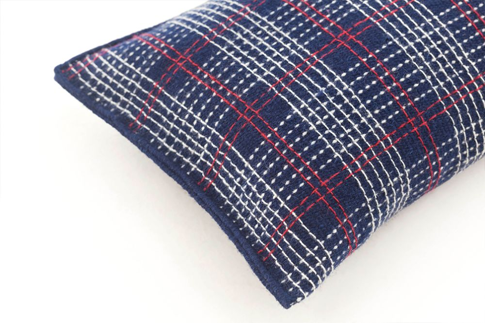 Indigo,GAN,Cushions,design,pattern,plaid,tartan,textile,wool