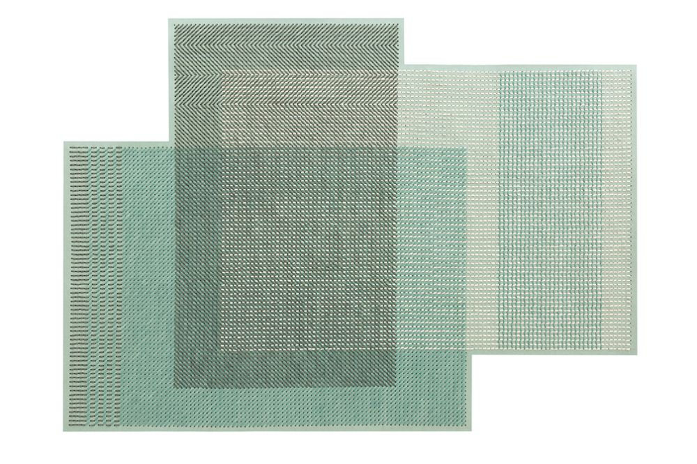 Green,GAN,Rugs,aqua,beige,green,line,placemat,rectangle,teal,turquoise