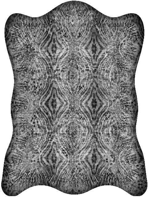 300x200 cm Poliamide,Moooi Carpets,Rugs,black-and-white,cushion,design,furniture,pattern,pillow,symmetry,textile,throw pillow