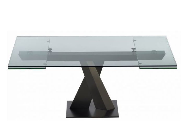 Axel Glass Dining Table with Extensions by Roche-Bobois