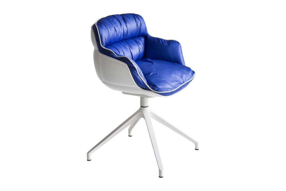 00 White, King Fabric 4021,Gaber,Breakout Lounge & Armchairs,azure,blue,chair,cobalt blue,electric blue,furniture,line