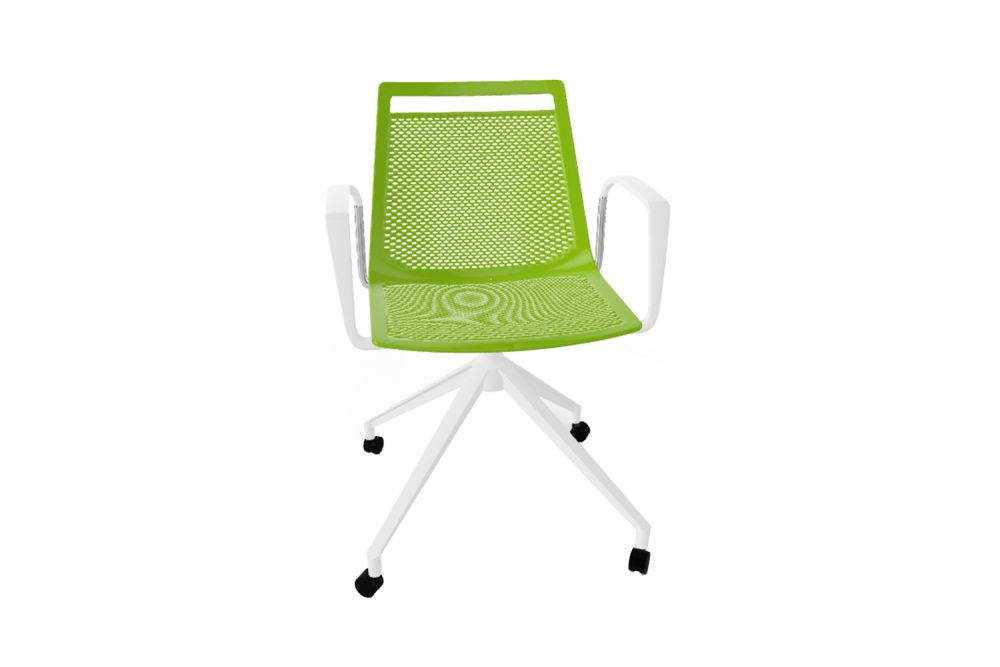 00 White, White Aluminum,Gaber,Conference Chairs,chair,furniture,green,line,office chair