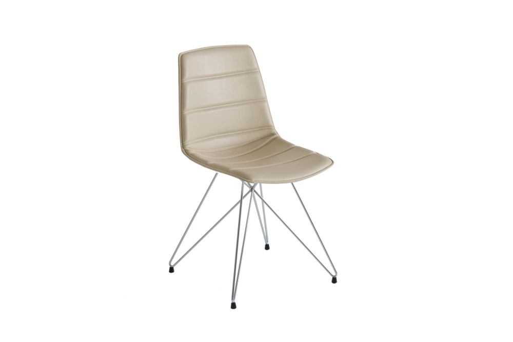 Chromed Metal, Simil Leather Aurea 1,Gaber,Breakout & Cafe Chairs,beige,chair,furniture
